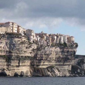 Staircase carved up the cliff face of Bonifacio