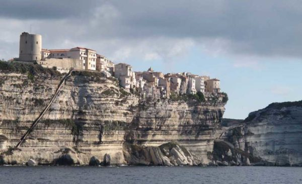 Include on your Malta Sardinia Corsica tours - Staircase carved up the cliff face of Bonifacio