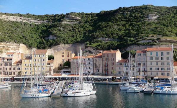 Bonifacio - small harbour with sailing boats