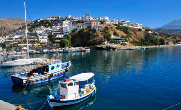 Greek Island tour includes water, boats and picturesque village of Agia Galini