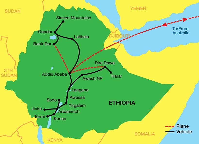 Ethiopia-tour-Map