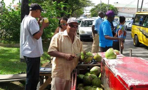 Guyana-selling-coconuts