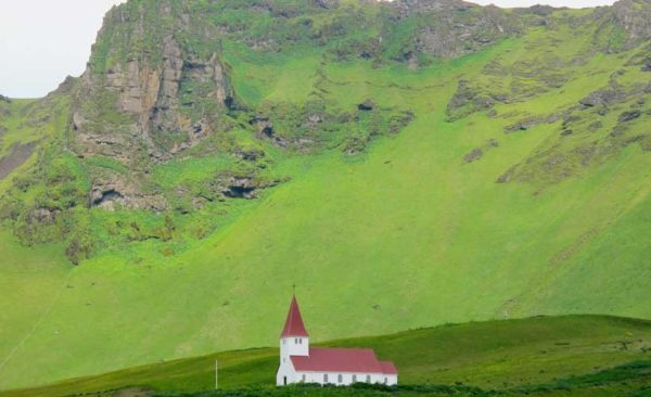 Iceland-vik-Church-on-hill