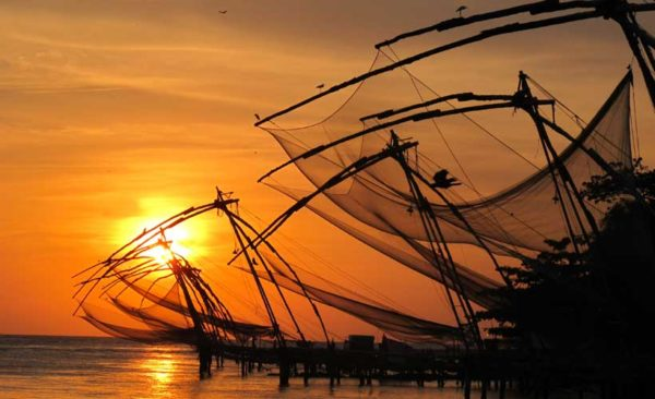 Kochin's Fishing nets Southern India tours