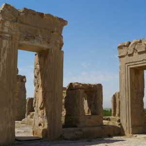 Several arches remain from the ruins of Persepolis