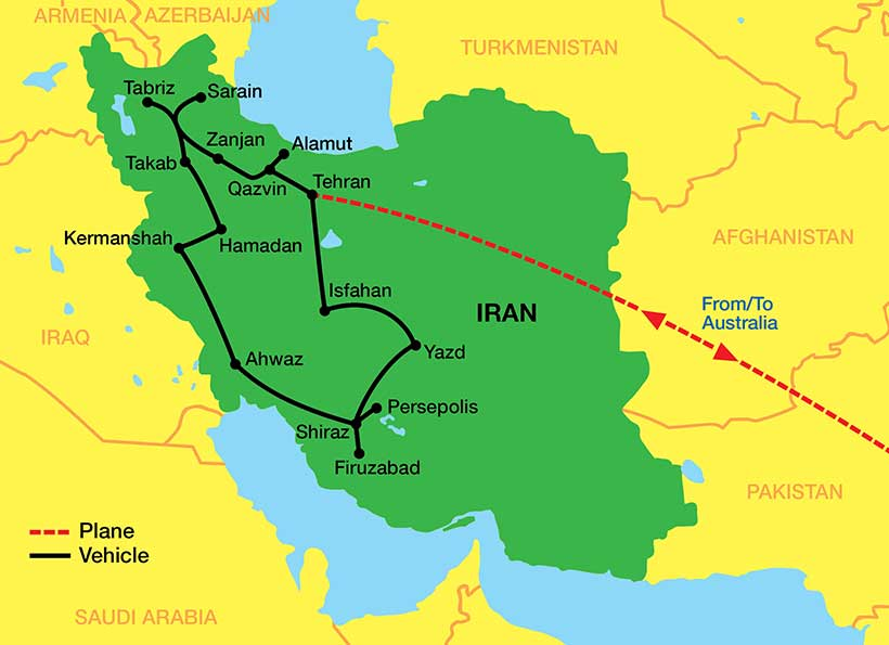 Iran-tour-map