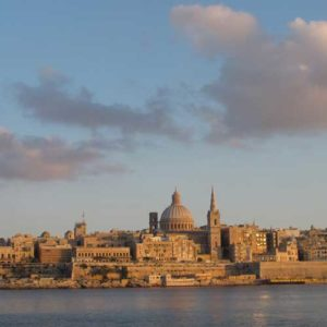 Looking across to Valletta harbour
