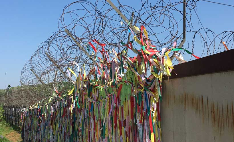 Buddhist Prayer Ribbons at the DMZ site in South Korea