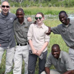Brett and Holly Goulston on African family safari