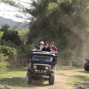 Jeeps on safari in Sri Lanka