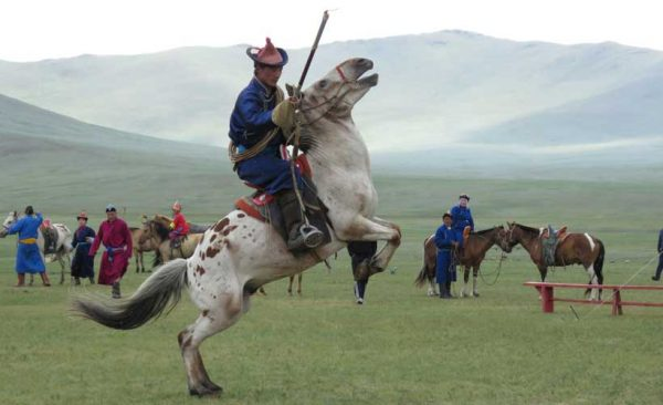 Mongolia-Naadam-Man-on-horse