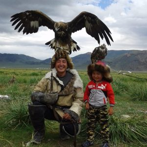 Eagle hunter family