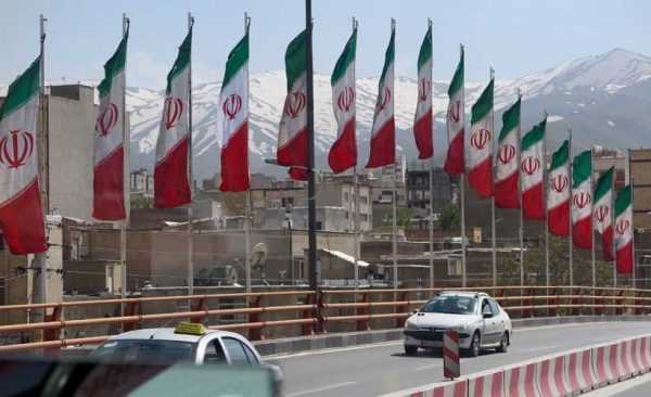 Iran-Tehran-flags