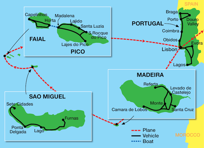 Tour map Portugal