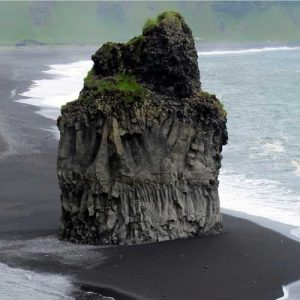 Black volcanic sands Iceland
