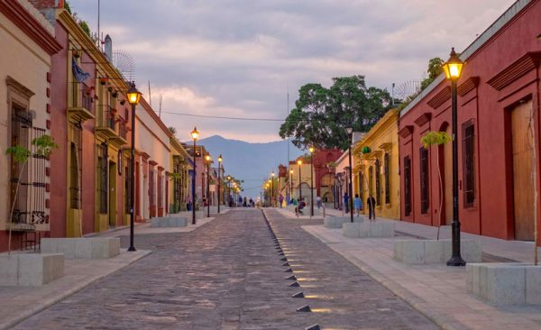 Oaxaca-street-at-sunset