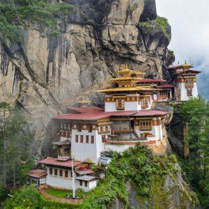 Famous Tigers Nest Monastery Bhutan
