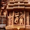 Carved stone figures at Parsurameswara Temple