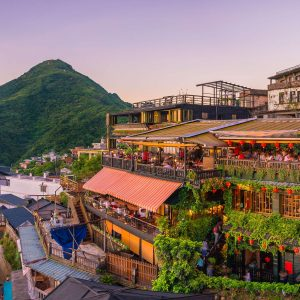 The old town of Jiufen in Taipei Taiwan