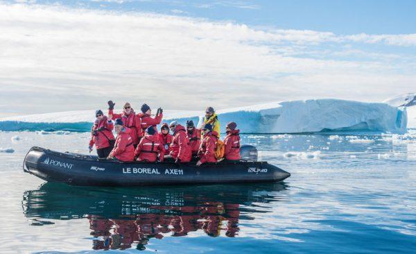 Antarctica Le Boreal zodiac
