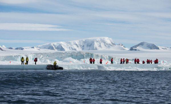 Antarctica landing