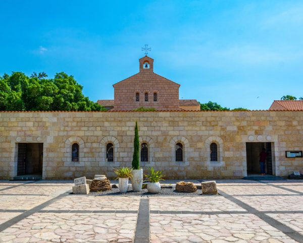 Church of the loaves and fishes in Tabgha Israel