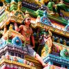 Detail of the Hindu Kapaleeshwarar Temple, Chennai