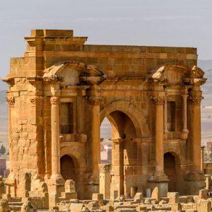 Djemila's Roman Arch in Algeria