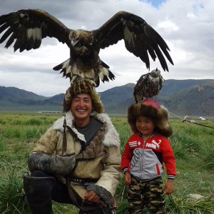 Eagle hunters in Mongolia