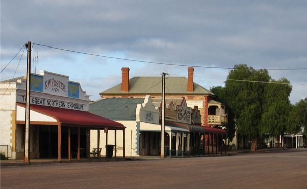 Quorn street with heritage shopfronts