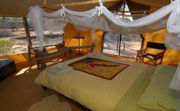 Safari style tent at Kangaluna Camp