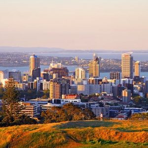Panoaramic view of Auckland New Zealand