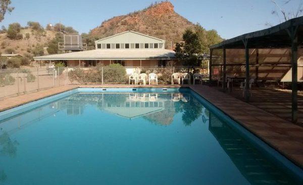 Arkaroola pool and village