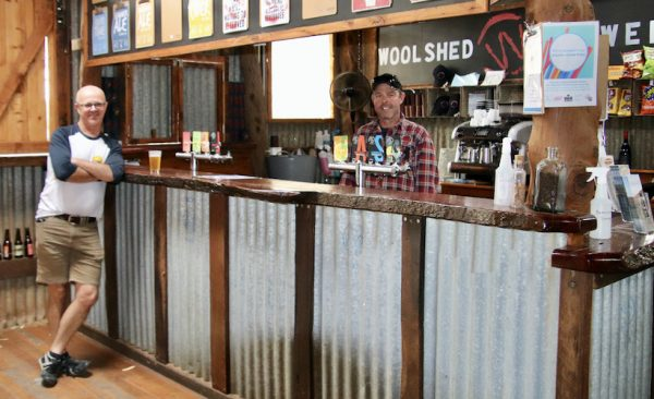 Woolshed Bar located on the Murray River backwaters Wilkadene Station